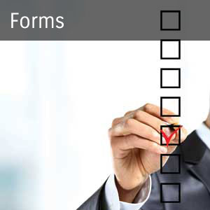 man in business suit checking boxes